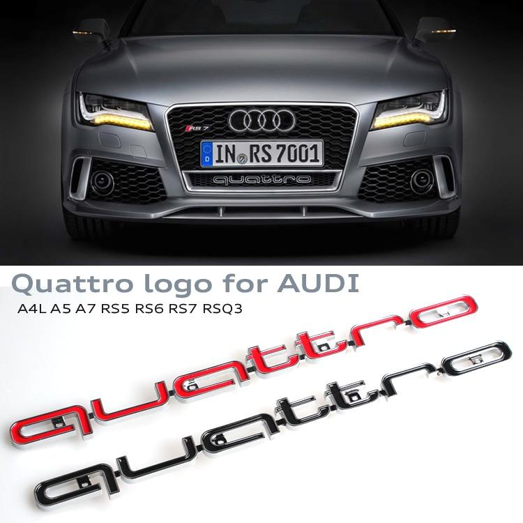 3d quattro emblem logo sign car front bumper lower grills. Black Bedroom Furniture Sets. Home Design Ideas