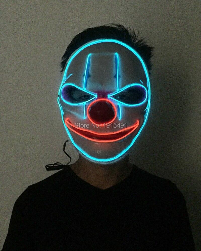 10 pièces lumineux éclairage ampoules lampe Rave Costume fête commande vocale tubes LED fil défilé de mode masque pour nouvel an jour décor