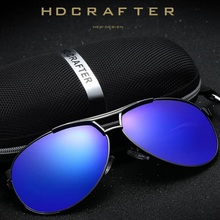 HDCRAFTER 2017 Brand Polarized Aviator Men Sunglasses Luxury Men's Goggle Alloy Frame UV400 for Travel Driver Driving