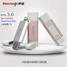 Maxchange 128gb USB Flash Drive 32gb 64gb Memory Disk OTG USB3.0 High Speed External Storage U Disk For iPhone/iPad/PC