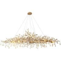 Postmodern Branches All copper Golden Pendant Light Crystal Lamp Designer Serip Lamp Hanglamp luminaire suspendu Industrial Lamp