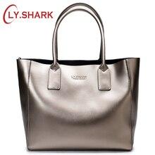 LY.SHARK female bag ladies genuine leather women bag shoulder messenger bag women handbag big famous brand designer fashion tote
