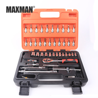 MAXMAN 46pcs/set Socket Ratchet Torque Wrench Extension Bar Drill Bits Automobiles Repair Tools Kit Multifunction Hand Tool Kit