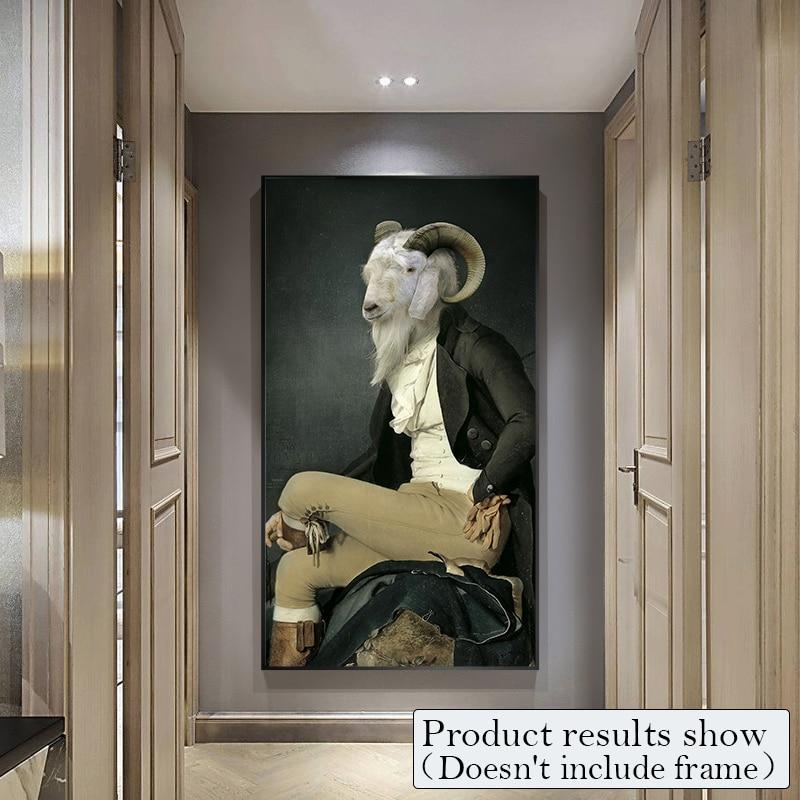 Gentleman Leinwand Gemälde Wand Kunst Tier Poster Und Drucke Mode ...