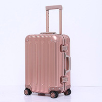 REISE TALE 20 zoll 100% aluminium kabine gepäck organizer spinner hand koffer auf rädern