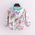 Autumn And Spring Baby Children's Clothing Fashionable Long Sleeve Hooded Jacket Cartoon Baby Cotton Dust Coat 2-8 Years Old