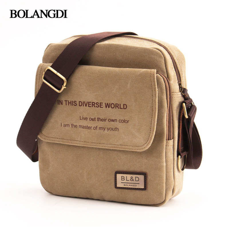2017 Korean Style BOLONGDI New Fashion Men Canvas Bags Britain Casual Men Bag Business Shoulder bag Men Shoulder Messenger Bags osoce men bag sling shoulder bag business casual canvas korean brief bags street office bag green blue gray s1 s2