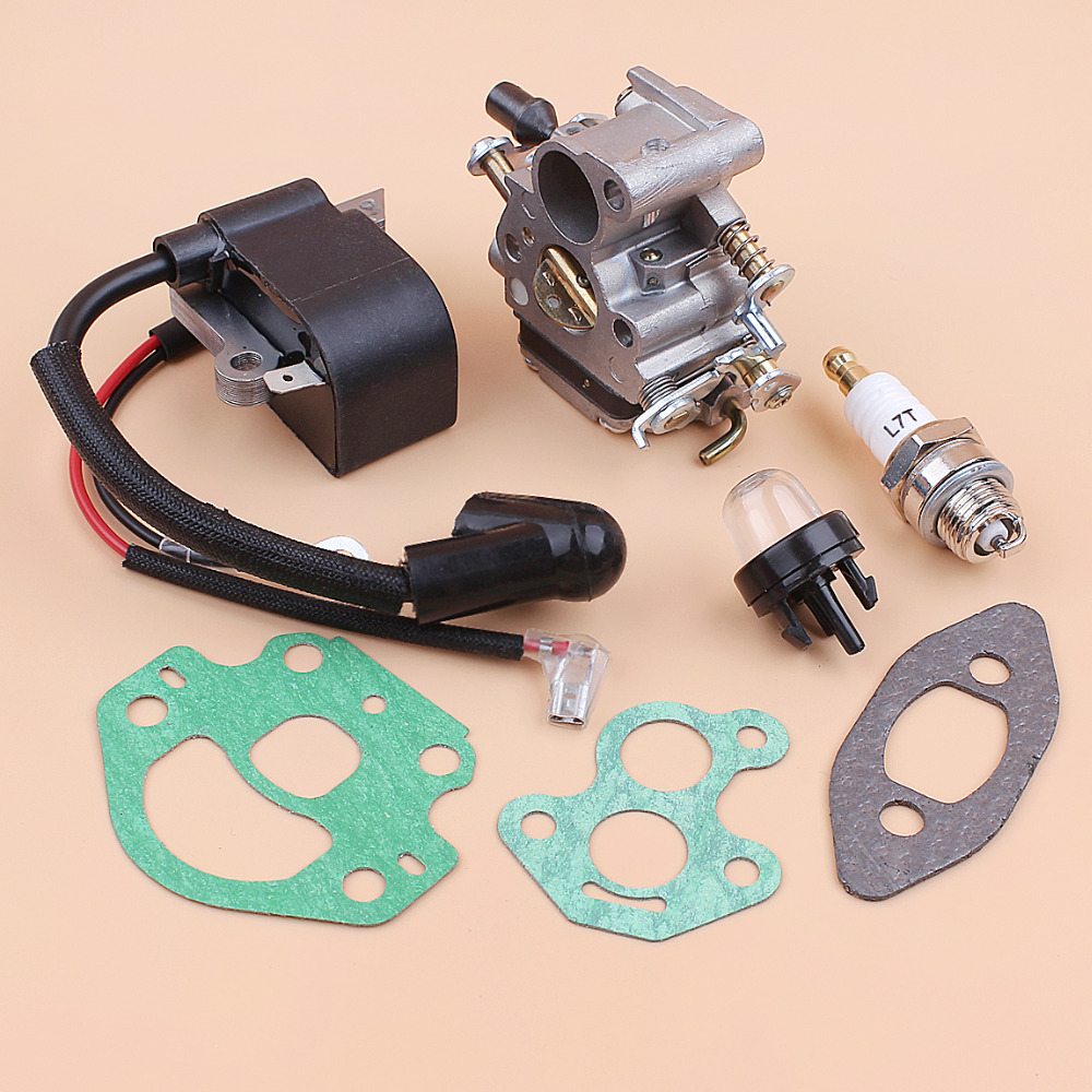 US $27 77  Carburetor Ignition Coil Module Magneto Kit Fit Husqvarna 240  236 235 Chainsaw Parts Zama C1T W33 Carb OEM 545199901 586936202-in  Chainsaws