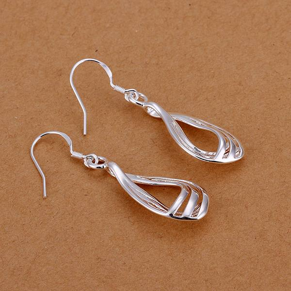 Silver color fashion Charm creative female models wedding cute hot sale jewelry earrings exquisite water droplets earrings E230 1