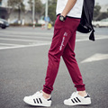 New Mens Joggers Sweatpants Male Slim Fit Pure Color Letters Pants Joggers Casual Mens Hip Hop Harem Trousers