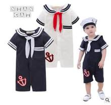 Baby Boy Clothes Children's Clothing Sets Kids Clothes Boys Navy Style Romper Clothes Baby Kids Clothing Set Retail(China)