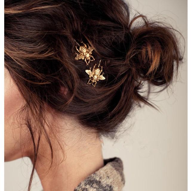 Słodkie Barrettes Golden Bees spinki do włosów spinki do włosów dla kobiet tiary Spinki do włosów biżuteria barrette bijoux de tete CF148