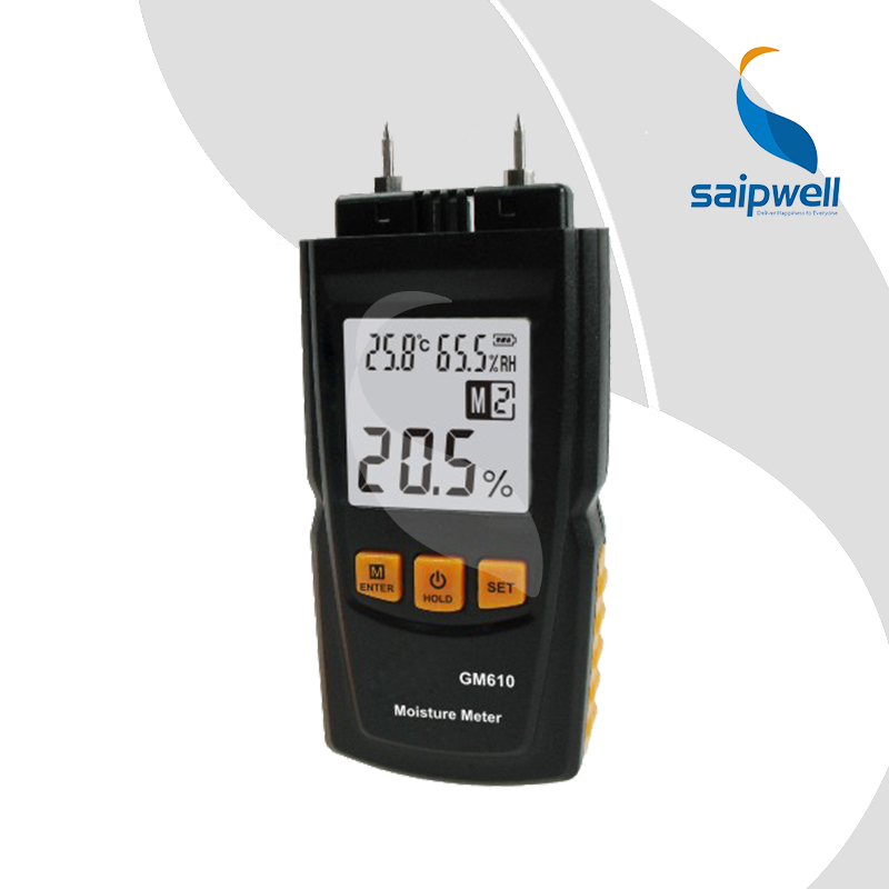 Saipwell LCD Display Digital Wood Moisture Meter Temperature Humidity Meter Tester (GM610) запонки