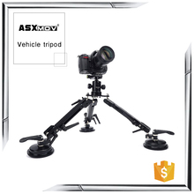 Professional portable lightweight mini flexible mount video camera sucker tripod for DSLR SLR cameras and camcorders