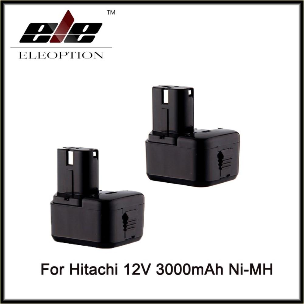 2PCS 12V Ni-MH 3.0Ah 3000mah Replacement Power Tool Battery for Hitachi EB1212S EB1214L EB1214S EB1222HL EB1230X EB1220BL 322629 for hitachi 12v 1 5ah ni cd replacement power tool battery for hitachi eb1212s eb1214l eb1214s eb1222hl eb1230x eb1220bl 322629