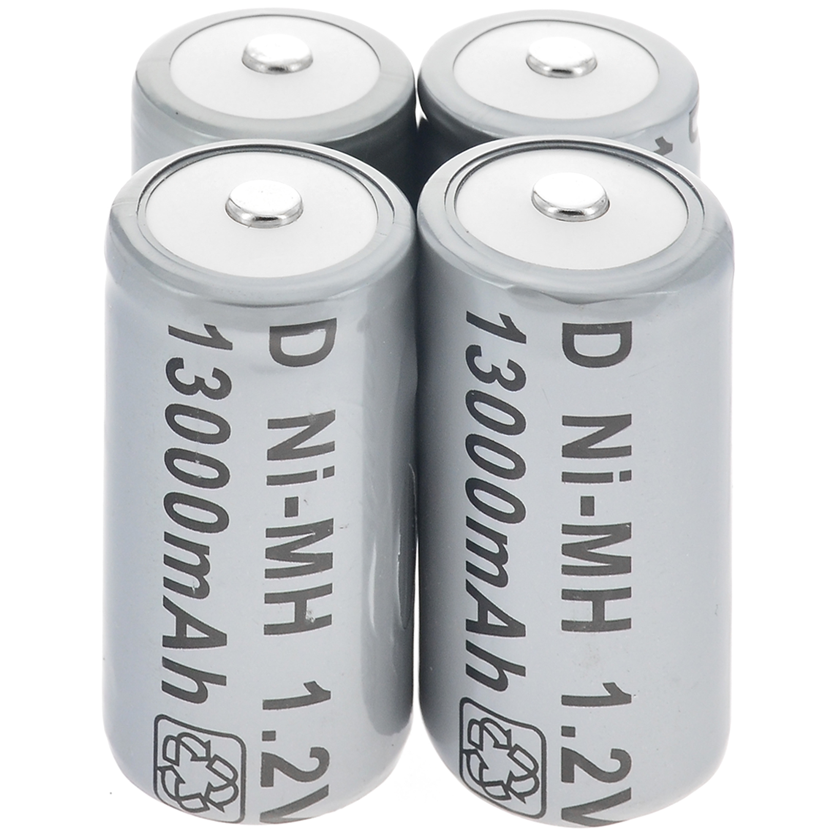 1/2/4/8/10/16pcs <font><b>1.2V</b></font> <font><b>Ni</b></font>-<font><b>MH</b></font> 13000mAh Rechargeable Battery Cell Grey D Size D-Type D Type image