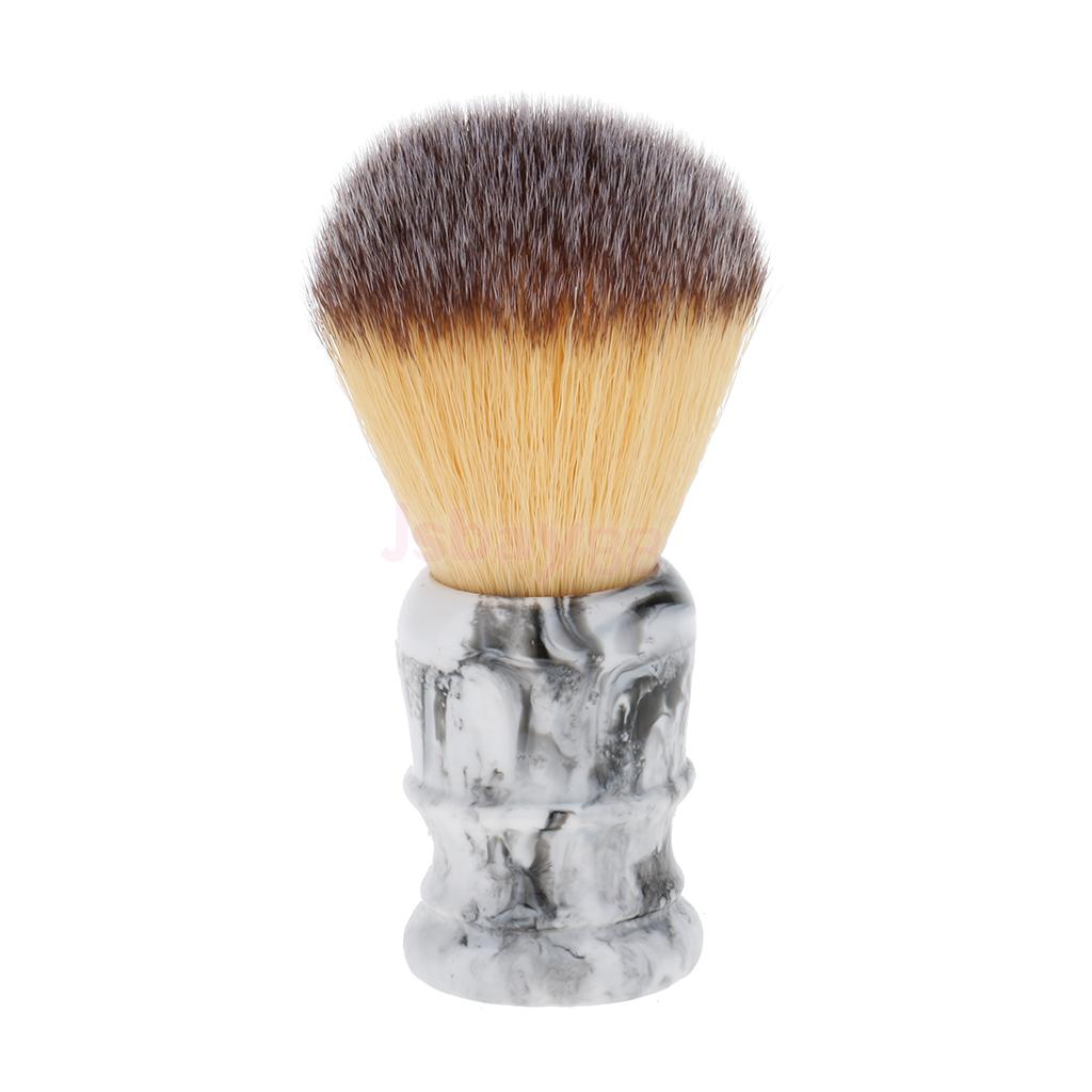 Professional Men Barber Salon Beard Mustache Shaving Grooming Brush Wet Shave Tool High Quality Resin Handle