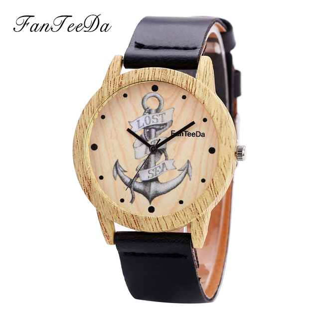 Us 3 56 Fanteeda Top Luxury Brand Wooden Watches Women Wood Leather Band Wrist Watch Popular Ladies Watches Quartz For Women Clock In Women S