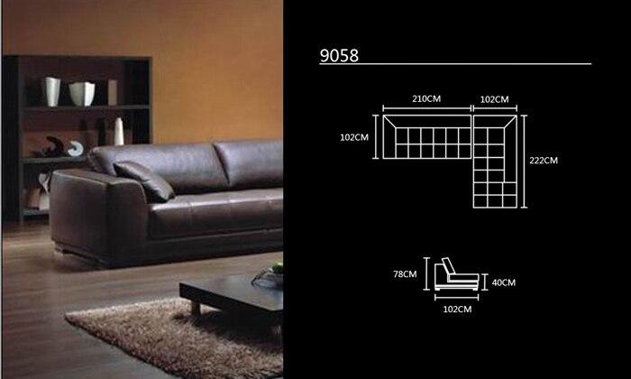 Stūra dīvāns ar ādas modernu dīvānu komplektu, 2013. gada - Mēbeles - Foto 6
