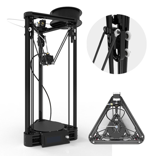 summer a2 free shipping 3d printer pulley version diy kit kossel, Powerpoint templates