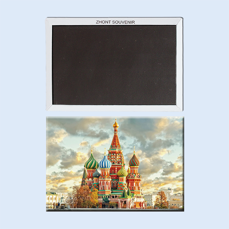 Russia church on the Red Square in Moscow 22598  Landscape  Magnetic refrigerator  gifts for friends   Travel souvenirs