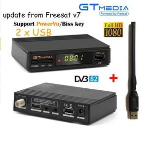 Tv-Receiver-Decoder Gtmedia V7s Receptor Support Cline Satellite Powervu Free-Sat DVB-S2