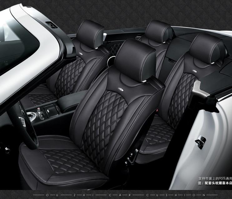 for volvo s40 s80 s60 V40 V60 XC60 XC90 brand black soft leather car seat cover front and rear set waterproof cover for car seat 3d styling car seat cover for volvo c30 s40 s60l v40 v60 xc60 xc90 high fiber leather