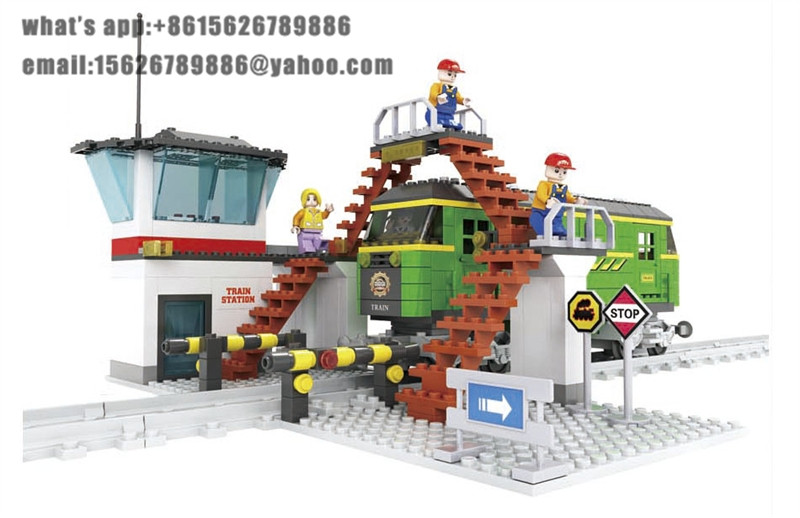 Ausini Model building kits compatible with lego city transportation train 013 3D blocks Educational toys hobbies for children lepin 02012 city deepwater exploration vessel 60095 building blocks policeman toys children compatible with lego gift kid sets