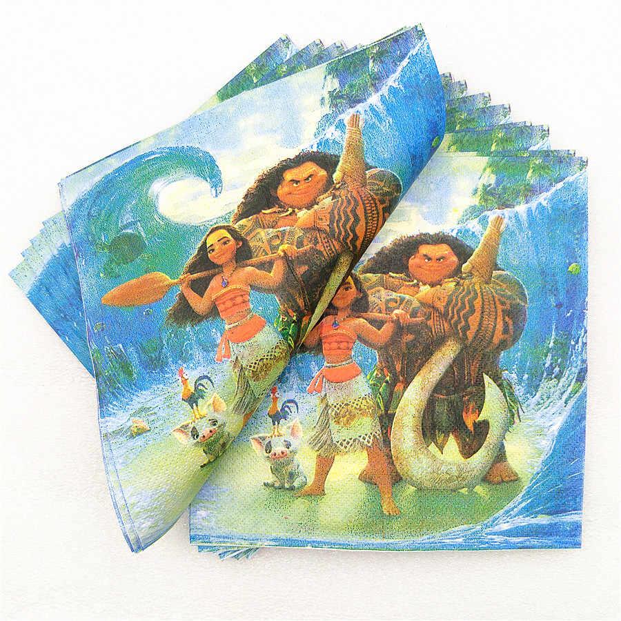 82 pc/set crianças festa de aniversário suprimentos utensílios de mesa decoração favor moana toalha de mesa placa copo guardanapo palha bandeira faca garfo colher