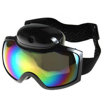 2018 Skiing Goggles Mask 720P HD 1080P Camera Video Camcorder UV Anti-fog Men Women Snowboard Glasses Action Camera Ski Eyewear