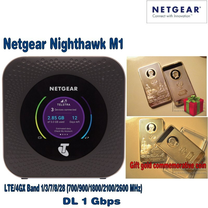 Netgear Nighthawk M1 4GX Gigabit LTE Routeur Mobile avec cadeau gratuit