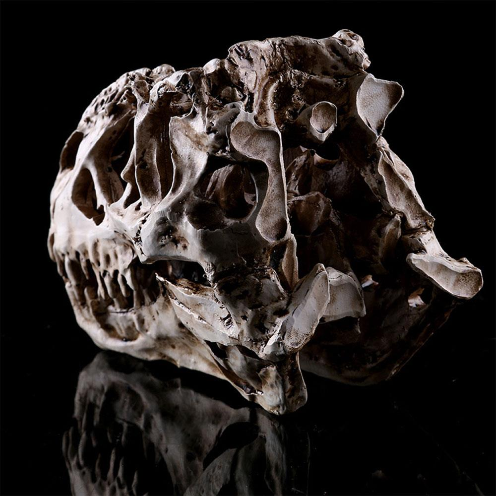 T-Rex Skull Dinosaur Resin Craft Gifts Home Decor Replica Fish Tank Statue Tyrannosaur Skull Skeleton Aquarium Decoration