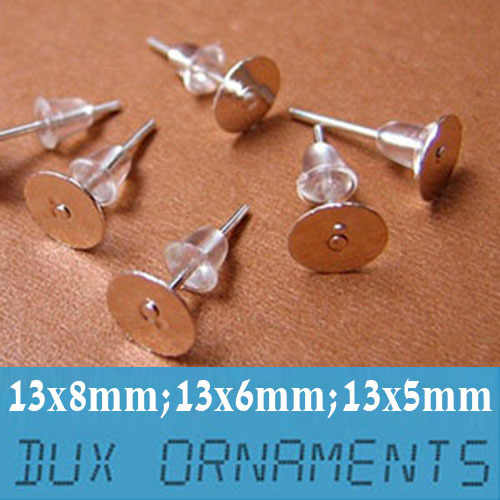 50 Pieces Silver Clip on Earring Craft Findings Backs Backings 10 mm Flat Pad