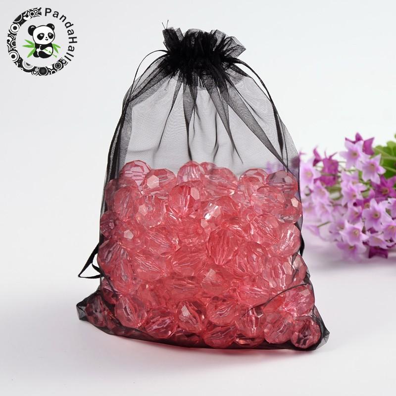 Organza Drawstring Gift Bag 8 x 14 inches 8x14 Quantity of 20, Red