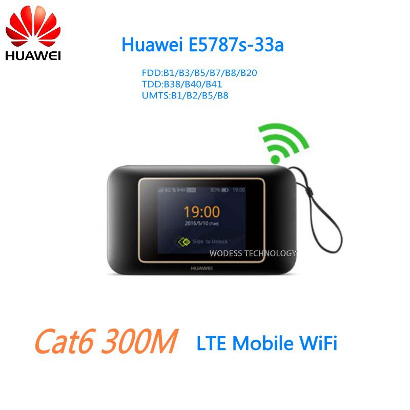 300mbps 4g lte router Cat6 WiFi Router with SIM card slot Huawei E5787 hotspot