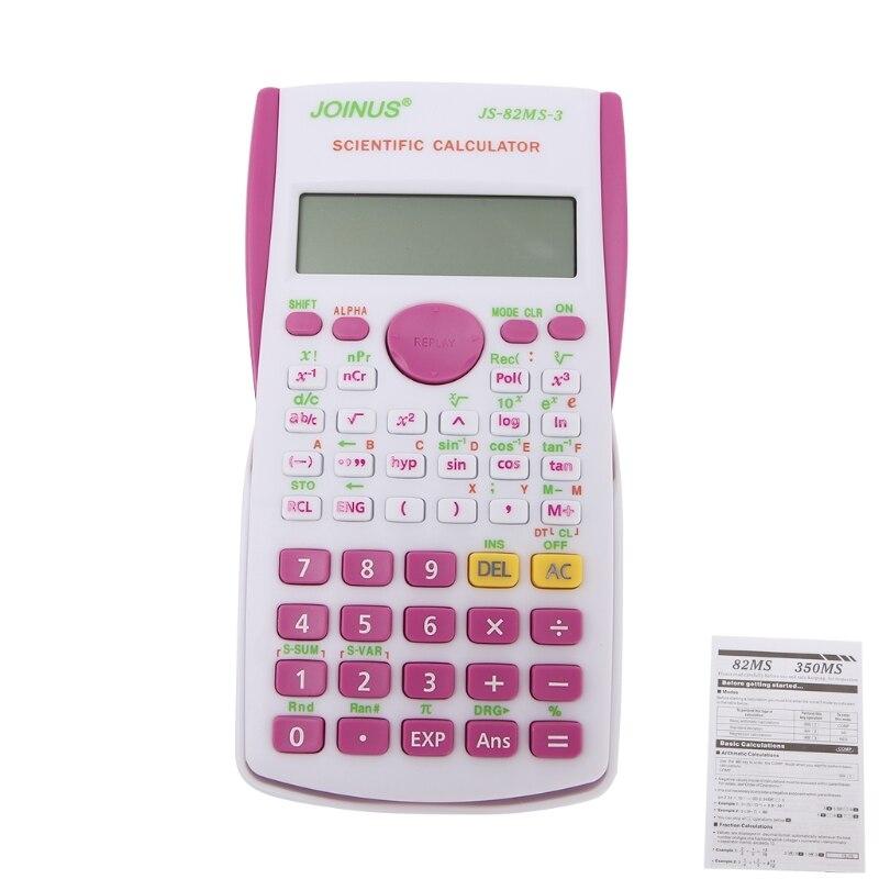 12 цифровой электронный научный калькулятор 240 многофункциональный калькулятор 2 линии ЖК-дисплей Дисплей для школы, университет и Бизнес