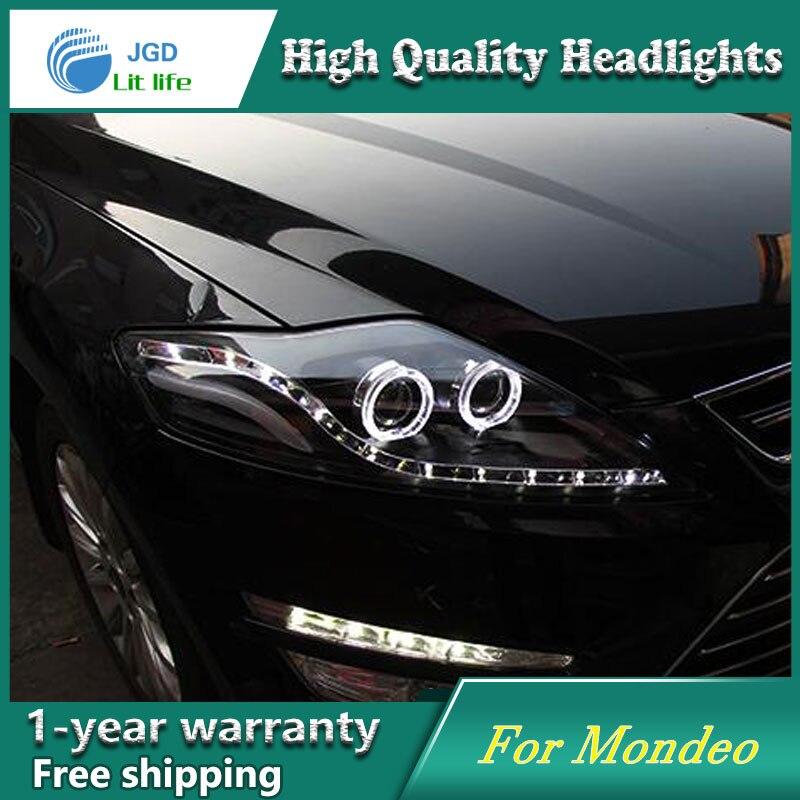высокое качество чехол стайлинга автомобилей для Форд Мондео фары LED объектив фар DRL двойной Луч HID ксеноновая