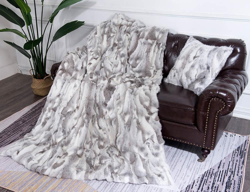 natural fur pillow case blankets 1