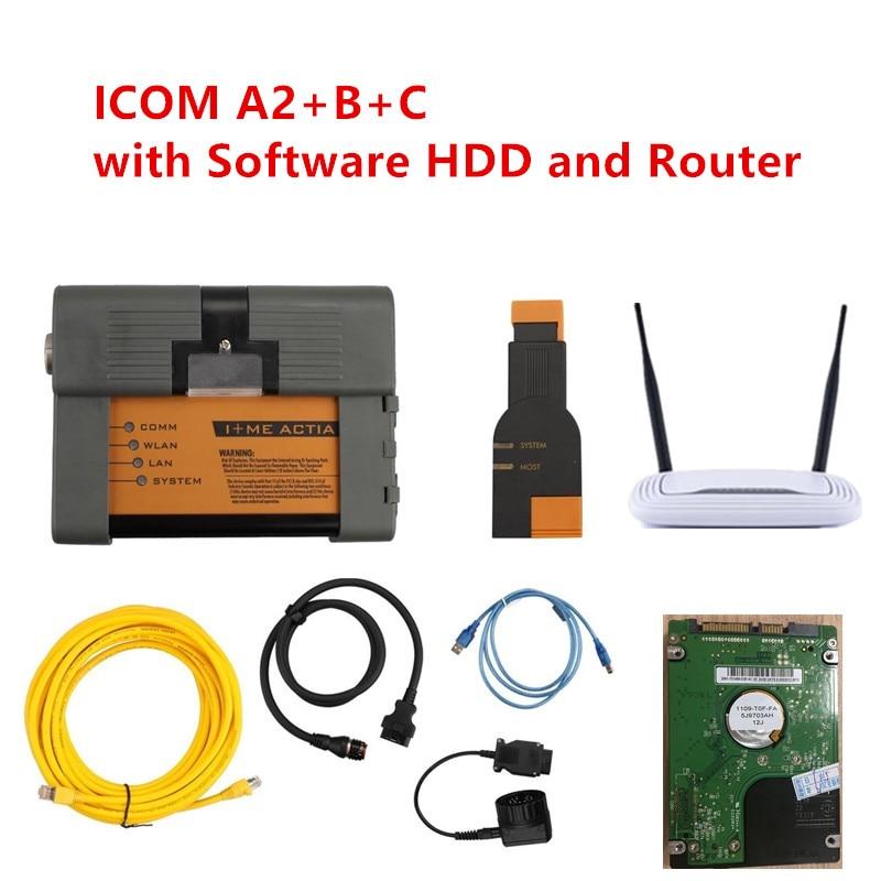 2018 Hohe Qualität Obd Obd2 Wifi Scanner Icom A2 Für Bmw A2 + B + C Und Software Hdd Obdii Auto Diagnose Werkzeuge Mit Freies Router