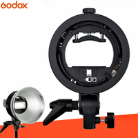 Godox S Type Bracket Elinchrom S Mount Holder Fit Speedlite Flash Snoot Softbox Reflector