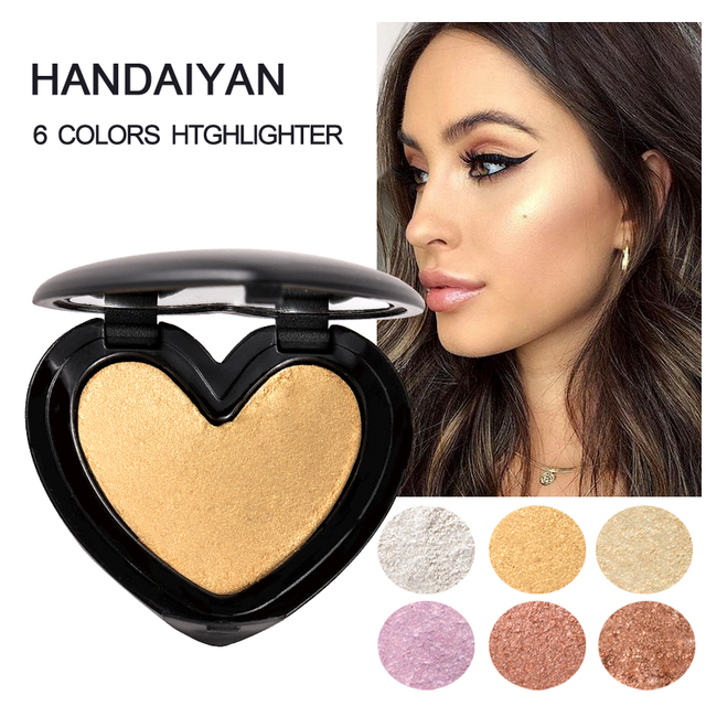Beauty Makeup Shimmer Highlighter Iluminador Contouring Face Cosmetics Pressed Powder Highlight Palette Brighten Skin Maquiagem