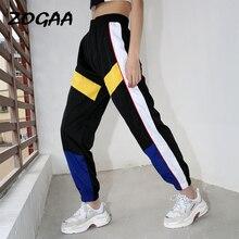 ZOGAA Women Patchwork Pants Black Pencil Streetwear Cargo Loose Jogger Trousers Sweatpants winter pants women
