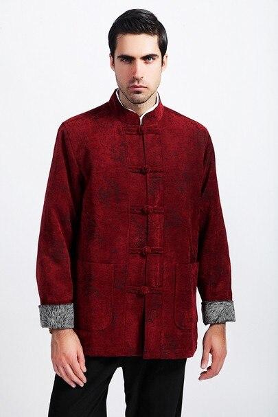 99086f4d5f24 Kış moda çin tarzı erkek bordo yün Kung-Fu ceket kaban ml XL XXL XXXL  ücretsiz kargo m2