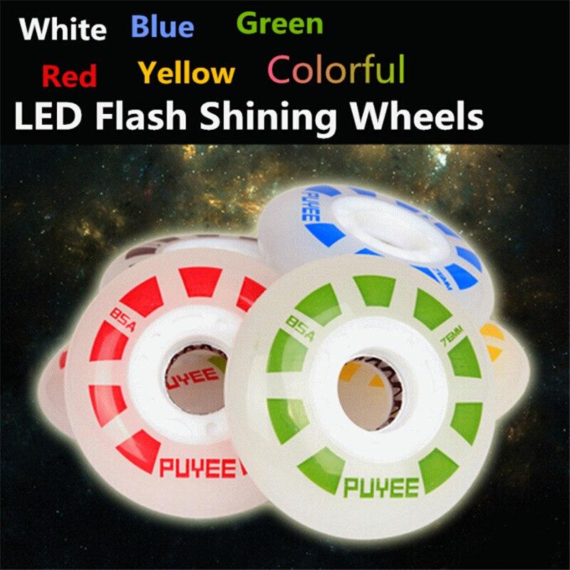 Original PUYEE LED Flash Shining Inline Skates Drift Slide Skating Wheel for SEBA PowerSlide Roller Skate