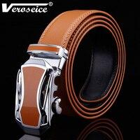 TG Hot Sale Genuine Leather Brown Strap Automatic Car Shape Buckle Men S Belt Cowskin Belts