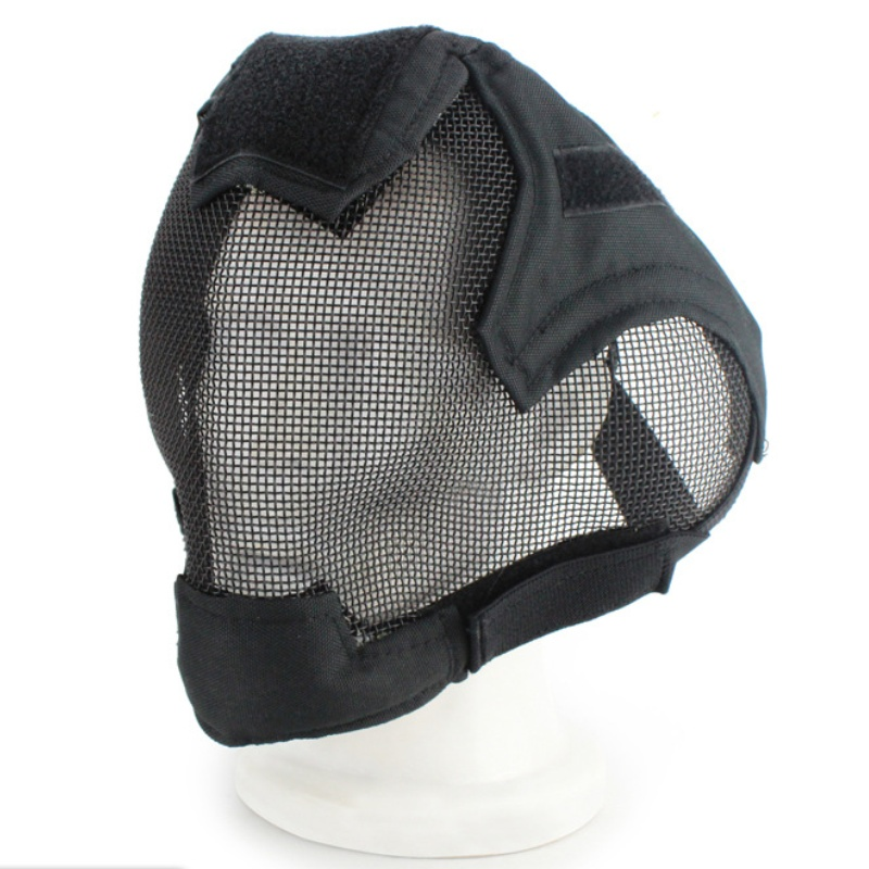 Airsoft Paintball Tactical Steel Metal Mesh Full Face Mask Helmet V6 Military Army Wargame Shooting Hunting Masks
