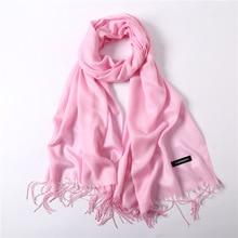 women Silky Pashmina Shawl Wrap Scarf for Evening Party Dresses warm foulard femme muslim headscarf hijab stole