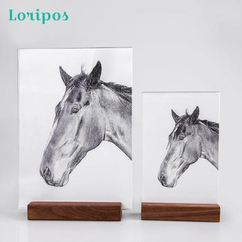 Nordic Desktop Photo Stand Rack Solid Wood Photo Picture Frame Modern Minimalist Creative Poster Display Stand Desk Sign Holder a4 size wood photo frame solid wood photo frame stand table display photo quadro decoration tv wall frame best gift 2019