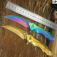 CS oyunu pençe bıçak 440C açık titanium cep cep katlanır bıçak kamp survival koleksiyonu çok fonksiyonlu bıçak