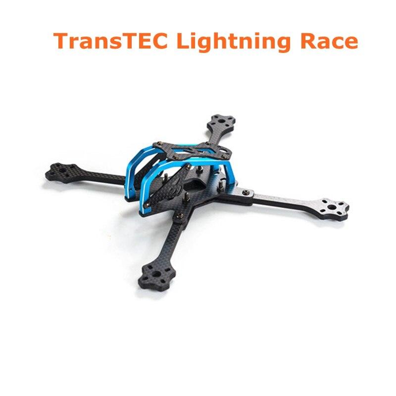 2017 Newest TransTEC for Lightning Race 215mm 5mm 3K Full Carbon Fiber Frame Kit Blue / Sliver for RC Racing Racer Drone Toy DIY transtec freedom 215mm 4mm 3k carbon fiber quad frame kit for multirotor fpv rc racing racer frame drone kit quadcopter uav diy